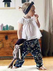 Detské oblečenie - Riflové kytičkové - 8207251_