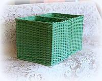 Košíky - Košík zelený - 8206966_