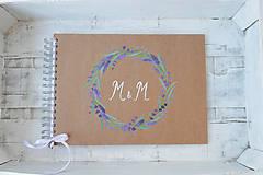 Papiernictvo - Kniha hostí levanduľová vášeň - 8207680_