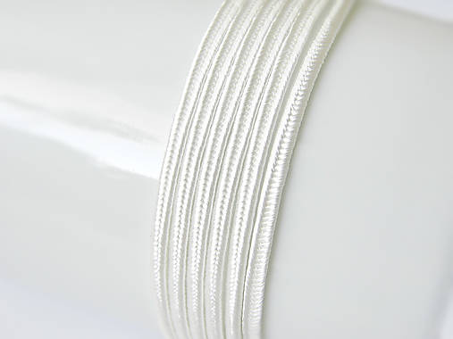 Sutaška (viskóza/bavlna) - Ivory, 3mm, bal.1m