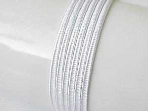 Galantéria - Sutaška (viskóza/bavlna) - White, 3mm, bal.1m - 8208577_