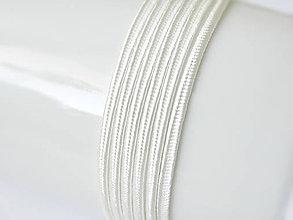 Galantéria - Sutaška (viskóza/bavlna) - Ivory, 3mm, bal.1m - 8208608_