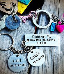 Kľúčenky - ĽÚBIME ŤA najviac na svete ... - 8212841_