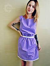 Šaty - Fialové šaty s bodkami - 8212079_