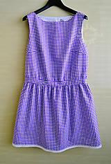 Šaty - Fialové šaty s bodkami - 8212082_