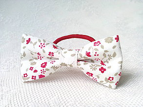 Ozdoby do vlasov - Romantic hair bow with flowers - 8209545_