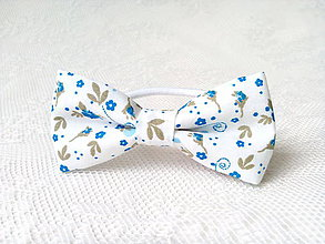 Ozdoby do vlasov - Romantic hair bow with flowers - 8209715_