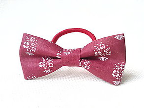 Ozdoby do vlasov - Bordeaux folklore hair bow - 8209733_