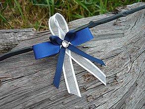 Pierka - Svadobné pierka FOLK modro-biele - 8212857_