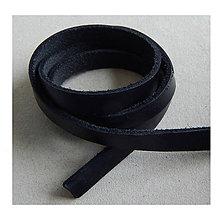 Galantéria - Kožený pásik, čierny 10x2,5mm /0,2m - 8210851_