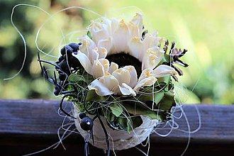 Dekorácie - Kvetinová krabička - 8211143_