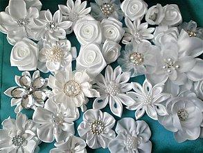 Ozdoby do vlasov - Saténové kvety - 8211730_