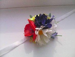 """Náramky - Kvetinový náramok pre družičku  """"...z lúčnych kvietkov..."""" - 8210180_"""