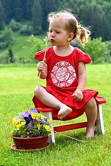 Detské oblečenie - Zľava - Detské šaty s ľudovým motívom Čatajské vtáčatko - 8212831_