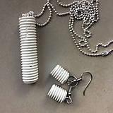 Sady šperkov - Betónový set SCREW white - 8209774_