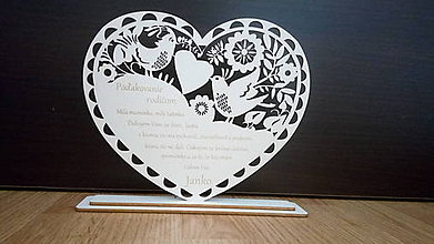 Darčeky pre svadobčanov - Poďakovanie rodičom 5 (Folk) -23cm - 8210750_