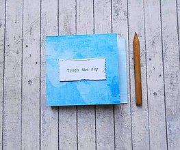 Papiernictvo - Touch the sky/trhací zápisníček - 8212457_