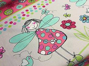Textil - Bavlnené látky dovoz Francuzko-prekrásna víla najkrajšia... - 8211594_