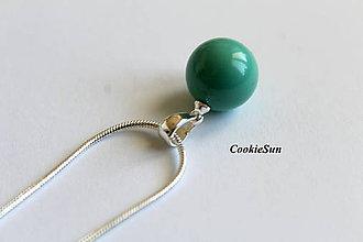 Náhrdelníky - Prívesok Swarovski Pearls Jade 12mm - 8209408_