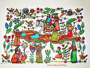 Kresby - VÍTANIE - maľovaný obrázok - 8210982_