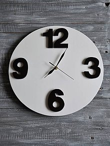 """Hodiny - veľké hodiny """"Jednoduchosť"""" - 8211903_"""