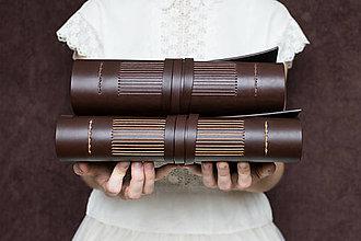 Papiernictvo - Ručne viazaný kožený zápisník Jozef / akvarelový papier - 8212351_