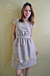 Šaty - Fialové šaty s bodkami - 8213991_