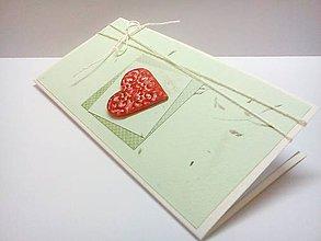 Papiernictvo - Pohľadnica ... Srdečná jahôdka - 8214787_