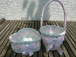 Dekorácie - Svadobné košíčky - menšie sady (ružová so štrasom) - 8214068_