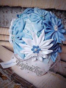 Dekorácie - Modrá elegantná ikebana - 8215687_