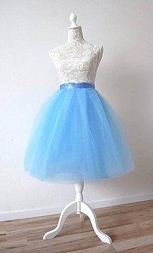 Sukne - Tylová sukňa svetlo modrá - 8214027_