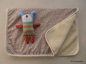 Úžitkový textil - Ovčie rúno deka 100% MERINO TOP s kašmírom BODKA režná 100 x 140 cm  - 8215990_