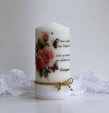 Svietidlá a sviečky - Sviečka s venovaním pre pani učiteľku VI. - 8214693_