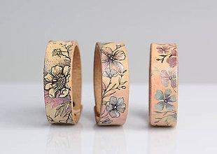 Náramky - Ručne maľovaný kožený náramok podľa výberu - 8214336_