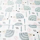 Textil - ježkovia, 100 % bavlna, šírka 160 cm, cena za 0,5 m - 8215898_