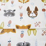 Textil - zvieratká; 100 % bavlna, šírka 160 cm, cena za 0,5 m - 8215987_