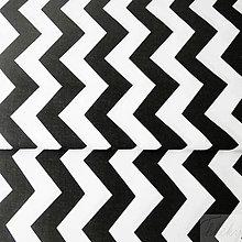 Textil - čierno-biely cikcak; 100 % bavlna, šírka 160 cm, cena za 0,5 m - 8215885_