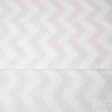 Textil - ružový cikcak; 100 % bavlna, šírka 160 cm, cena za 0,5 m - 8215886_