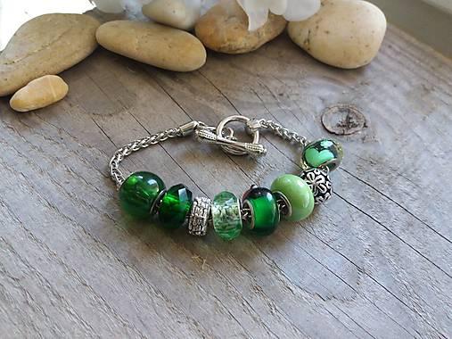 Náramok Pandora zelený   Johnny7 - SAShE.sk - Handmade Náramky f8bc2bb4275