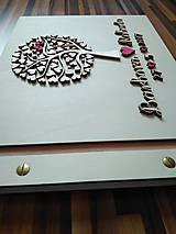 Papiernictvo - Svadobná kniha hostí - motív strom - 8213928_