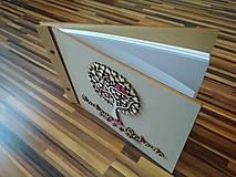 Papiernictvo - Svadobná kniha hostí - motív strom - 8213930_