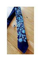 Kravata Cibuľačka -modrotlač