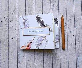 Papiernictvo - You inspire me/trhací zápisníček - 8213560_