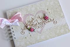 Papiernictvo - Kniha hostí - dva vtáčiky - 8213188_