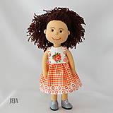 - Oranžové šaty bez rukávov - 8213713_