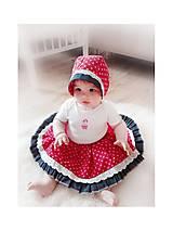 Baby čepiec + sukienka červená Folklór
