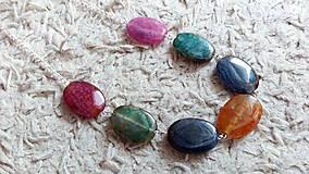 Náhrdelníky - Achátový náhrdelník - 8214331_