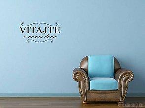 Dekorácie - Nálepky na stenu - Vitajte v našom dome - 8214386_
