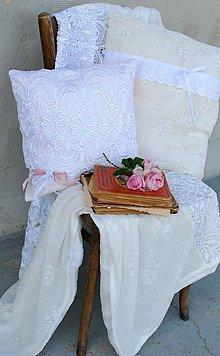 Úžitkový textil - Vintage  prikrývka a vankúše - 8216196_