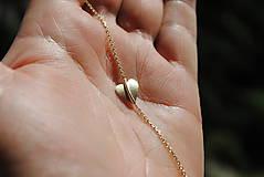 Náramky - Jesenné srdce náramok zlatý - 8217660_